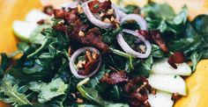 Paleo Spinach and Apple Salad with Warm Bacon Dressing