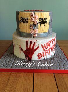 Brilliant Image of Walking Dead Birthday Cake Scary Halloween Cakes, Scary Cakes, Halloween Torte, Halloween 1, Horror Cake, Walking Dead Birthday Cake, Walking Dead Cake, Cupcakes, Birthday Cakes