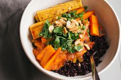 carrot coconut curry with crispy tofu — sobremesa | dairy free vegetarian recipes best shared