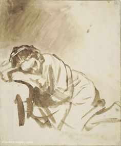 From The National Gallery, London, Rembrandt van Rijn, A young Woman sleeping (Hendrickje Stoffels) (about Drawing, × cm She Quotes, Woman Quotes, Bitch Quotes, Sleeping Women, Girl Sleeping, National Gallery, Women Empowerment Quotes, Female Empowerment, Chinese Proverbs