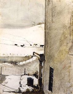 Andrew Wyeth. Cow Tracks. 1962 watercolor.