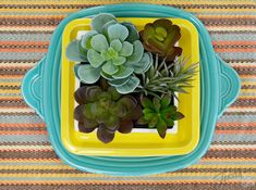 It's a Fiesta Dinnerware desk makeover! Learn more at www.alwaysfestive.com.