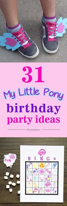 The best My Little Pony birthday party ideas - perfect for a little girl's birthday party!