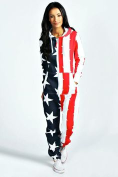 Una American Flag USA Onesie  Stay cosy this season with a onesie