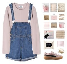 """"""" I've been locked inside your heart-shaped box for weeks. """" by centurythe ❤ liked on Polyvore featuring Acne Studios, Chicnova Fashion, Puma, H&M, Christy, SUQQU, Prada, Gus* Modern, Tiffany & Co. and women's clothing"""