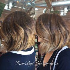 Amazing short ombre cut & color!