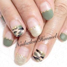 Instagram media by nail.himmel - 去年大人気だった迷彩柄 #nail #nails #nailart #nailsalon #himmel #gelnail #camouflage #nailartist #matte #khaki #fashion #trend #ネイル #ジェルネイル #ネイルサロン #ヒメル #ネイリスト #迷彩柄 #迷彩ネイル #カモフラ #カモフラネイル #マットネイル #マットコート #美甲