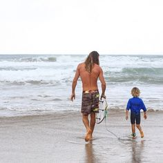 training...   jesus walks with me....now he is teaching Park to  catch a wave....miss ya son