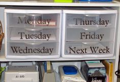 Organizing Weekly Lesson Materials better than folders. Repinned by SOS Inc. Resources.  Follow all our boards at http://pinterest.com/sostherapy  for therapy resources.