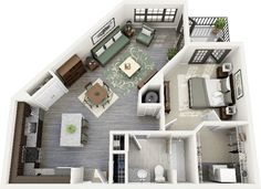 Floor Plans - One Bedroom