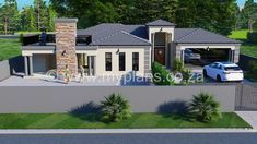 4 Bedroom House Plan – My Building Plans South Africa My House Plans, 4 Bedroom House Plans, Modern House Plans, My Building, Building Plans, Master Suite, Master Bedroom, Open Plan, South Africa
