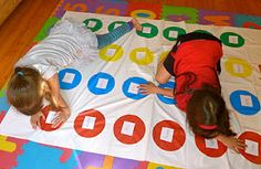 teaching site words with a twister game by putting words on the colors