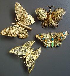 Las joyas de la mariquita: Magia mariposas en filigrana de plata