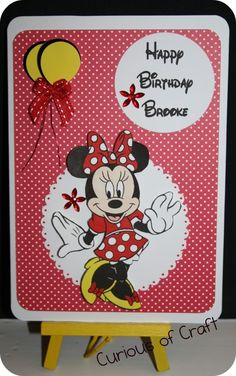 Curious of Craft: Minnie Mouse Card