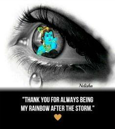 Radha Krishna Love Quotes, Cute Krishna, Lord Krishna Images, Krishna Art, Rainbow After The Storm, Radhe Krishna Wallpapers, Iskcon Krishna, Happy Wallpaper, Indian Art Paintings