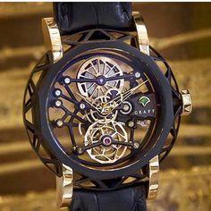 Looks like a piece o Looks like a piece of art for your wrist! Graff Mastergraff Tourbillon fully skeletonized ♢ ⌚Timepiece: Graff Diamonds Photo: Graff Diamonds #swisswatchgang
