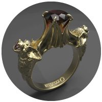 Nocturne - Bronze Ring by Omnia Oddities.