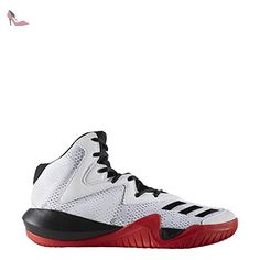 adidas Crazy Team 2017, Chaussures de Basketball Homme, Multicolore (FTWR White/Core Black/Scarlet), 43 1/3 EU