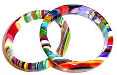 Jackie Brazil - recycled acrylic bangles