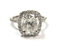 Vintage cushion cut diamond ring, get on my finger.