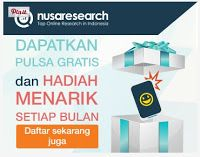 Cara dapat pulsa gratis hanya dengan isi survey online di internet.