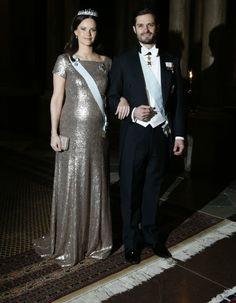 Princess Sofia of Sweden official gala dinner at Swedish Royal Palace