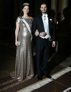 The King and the Queen held an official gala dinner at Swedish Royal Palace
