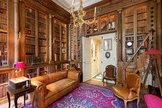 Behind each private mansion of Saint-Germain district hides a noble story, taking place during previous centuries along with precious furniture… Interior Design Instagram, Classic Library, Under Stairs Cupboard, Paris, Marquise, Great Hotel, French Interior, Architectural Elements, Decoration