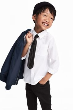 Kravatlı/Papyonlu Gömlek - Beyaz/Kravat - Kids | H&M TR