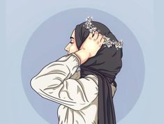 Locked Wallpaper, Galaxy Wallpaper, Girl Cartoon, Cartoon Art, Hijab Drawing, Anime Muslim, Hijab Cartoon, Girls Dp Stylish, Profile Picture For Girls
