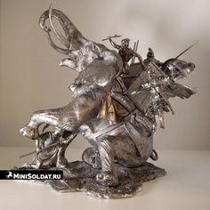 Оловянная миниатюра Карфагенский боевой слон 54мм купить
