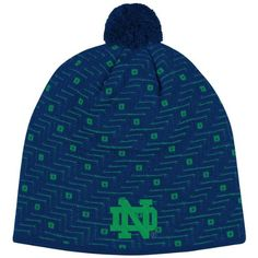 3b7d3ba7e69 Enjoy exceptional warmth and comfort with this stylish womens Notre Dame  fighting Irish knit pom golf beanie cap hat by Adidas!