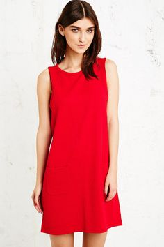 Cooperative Daisy Babydoll dress in Red
