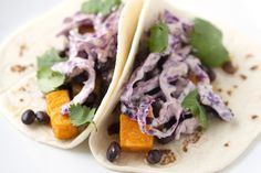 Meatless recipes: Roasted Sweet Potato and Chipotle Tacos Recipe