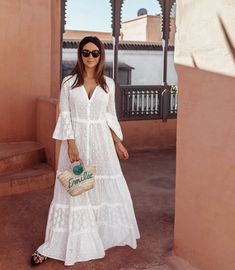 Vestidos largos Hijab Fashion, Boho Fashion, Fashion Dresses, Fashion Design, Simple Dresses, Casual Dresses, Summer Outfits, Summer Dresses, African Dress
