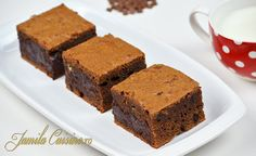 Reteta Negrese Americane - Brownies (video) - JamilaCuisine