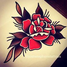 Image result for old school flower  tattoos designs for men