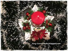Stroik z wikliny papierowej w czerwieni Christmas Wreaths, Holiday Decor, Handmade, Home Decor, Hand Made, Decoration Home, Room Decor, Home Interior Design, Home Decoration