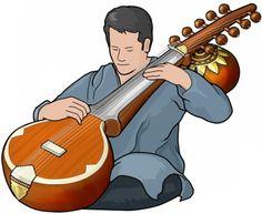 インドの弦楽器。スラスリンガ。Indian Sursringar