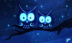 Kirsten Grobe: Night Owls for Sketch Dailies