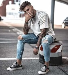 Men's Street Style at The Idle Man - Jeans & Denim Style for men - Street Dope Fashion, Mens Fashion, Male Street Fashion, Fashion Guide, Fashion Hats, Fashion Week, Trendy Fashion, Fashion Ideas, Fashion Outfits