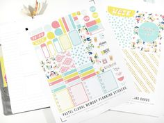 The Ultimate List for Beautiful Free Printable Planner Stickers Free Planner, Planner Pages, Happy Planner, Planner Ideas, Planner Board, Blog Planner, Planner Inserts, Pastel Floral, Printable Planner Stickers