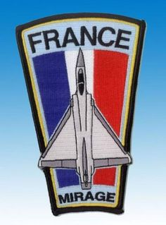 Patch Mirage 2000 Armée de l'Air Française Longue Version