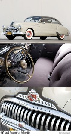 1947 Buick Roadmaster Sedanette. http://carpictures.us = my dad's was a burgundy '48 Super Sedanette and the only '48 I've ever seen with '49 portholes in the hood. Not sure if it was a rare factory option or a mild custom addition by the first owner, My dad bought it in 1949.  It had a straight 8 engine.  Good memories from trips from Portland, OR to CA & BC.