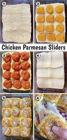 If you're as lazy as me, then you are going to love these quick and easy chicken parmesan sliders. They are made with just a few simple and cheap ingredients including Hawaiian rolls, frozen chicken nuggets, pasta sauce, cheese, butter and seasoning. My kids beg me to make these! They are a great last minute dinner idea or even after snack for when your kids have friends over. So yummy served with a healthy caesar salad. I just love easy dinner recipes like this! Quick Easy Dinner, Quick Meals, Simple Easy Dinner Recipes, Easy Recipes, Family Meals, Kids Meals, Group Meals, Easy Chicken Parmesan, Baked Chicken