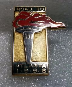 Olympic Games Road to Atlanta 1996 Torch Lapel Hat Pin