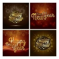 Happy new year collection stock vector ,