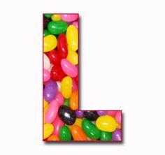 "l | Scrapbook Alphabet: ""Jelly Beans"" JPG Free Scrapbook Alphabet Letters"