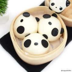 (198) Panda Steamed Buns | Edible Heaven | Pinterest