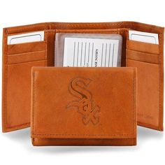 CHICAGO WHITE SOX EMBOSSED LEATHER TRIFOLD WALLET BY RICO